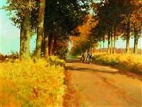lane from benington to watton at stone hertfordshire by john haskins