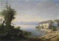 seenlandschaft by carl von kratzer