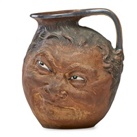 large double-sided face jug by robert wallace martin