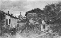 une reconte près du puits by austro-hungarian school (19)