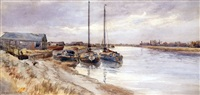 old wherries, north river yarmouth by stephen john batchelder