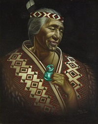 old maori woman by charles mcphee