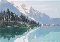 lac des bois et le mont-blanc by charles henry contencin