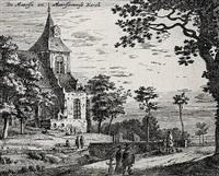 de maersse en maersseveense kerck, pl. 5 (from ansichten von holland und utrecht) by roelant roghman
