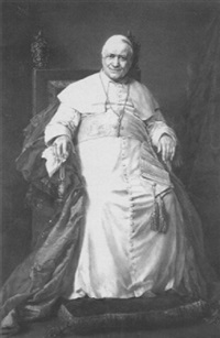 portrait of pope pius ix, seated full length by octavia campotosto