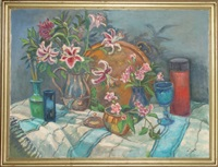 untitled - still life with flowers by adela smith lintelmann