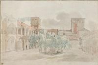 im innenhof des palazzo venezia in rom by thomas ender
