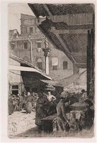 mercato vecchio: la colonna della dovizia. by telemaco signorini