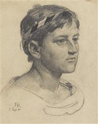 porträt einer jungen frau by friedrich august von kaulbach