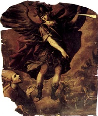 the archangel michael appearing to the bishop of sipontus, the shooting of the bull on monte gargano beyond by sebastian de arteaga