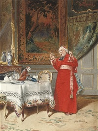 the cardinal and the cheeky monkey by alfred weber