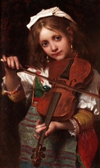 the young violinist by pierre louis de coninck