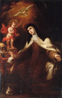 the christ child appearing to saint teresa of avila by sebastian de llanos valdes