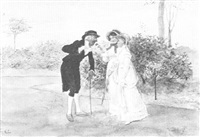 smelling the rose by randolph caldecott