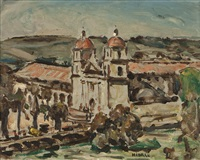 mission santa barbara by clarence hinkle