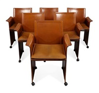dining chairs (set of 6 works) by tito agnoli