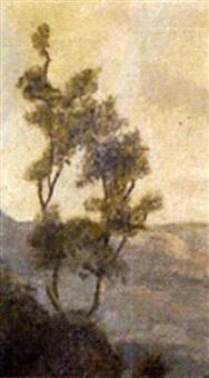 bosque con río by joaquín clausell