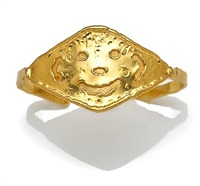 a bangle bracelet of happy face motif by jean mahie