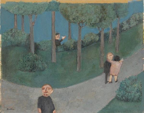 les amoureux au parc etude de personnages double sided by louis quilici
