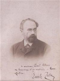 portrait d'émile zola by eugene pirou