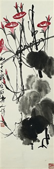 morning glories by qi baishi