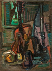 still life with guitar by michael argov