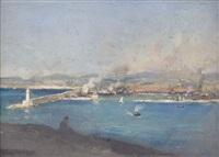 vue d'un port by etienne philippe martin