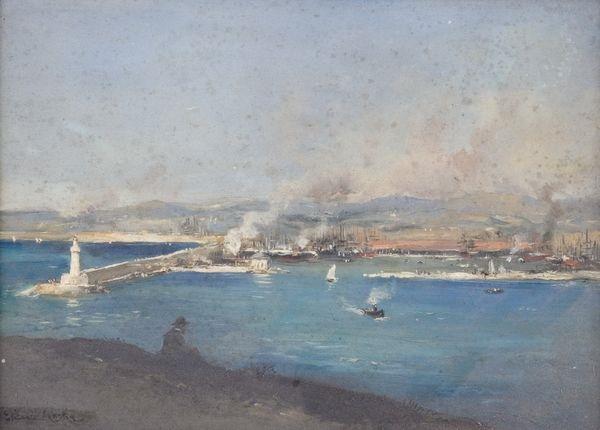vue dun port by etienne philippe martin