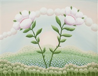 paesaggio fantastico con fiori by ivan rabuzin