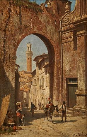 ruelle italienne animée by jacques françois carabain