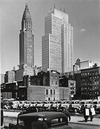 n.y.c., midtown manhattan, chrysler & daily news bldgs., 2nd ave elevated by andreas feininger