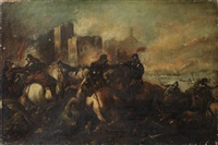 a cavalry skirmish by antonio calza