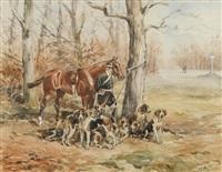 le valet de chiens by karl andré jean (baron) reille