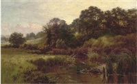 a meandering summer river by charles gibbs