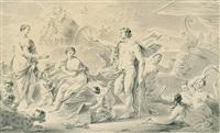 dionysos wirbt um ariadne by bernhard (christian bernhard) rode