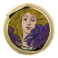 snuffbox with female portrait by josef maria auchentaller