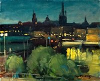city at night by serge kislakoff