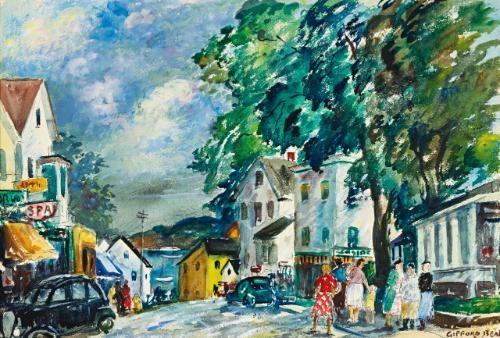 saturday morning, main street by gifford beal