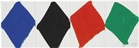 study for a four panel painting by ellsworth kelly