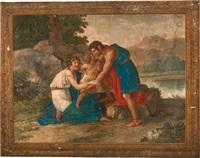 mythologische szene, scena mitologica (die rückkehr des achilles / il ritorno di achille) by giuseppe cammarano
