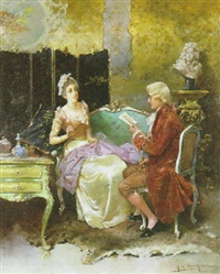 in the salon by r. m. la monaca