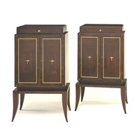 pair of cabinets by paul frechet