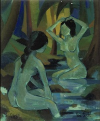 women bathing by han snel