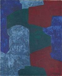 composition en rouge bleu et vert by serge poliakoff