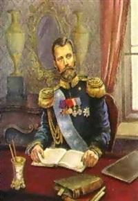 portrait du tsar nicolas ii by kornelia khazatskaia