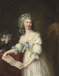 portrait of marie-françoise dumesnil by marie-victoire lemoine