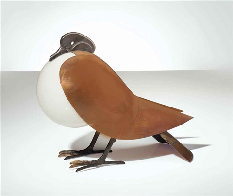 lampe pigeon by françois xavier lalanne