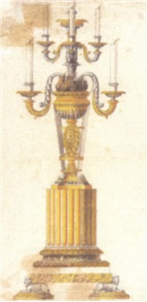 a design for a candelabrum by luigi righetti