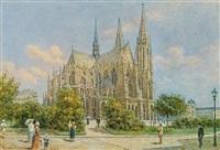 wien, votivkirche by franz alt