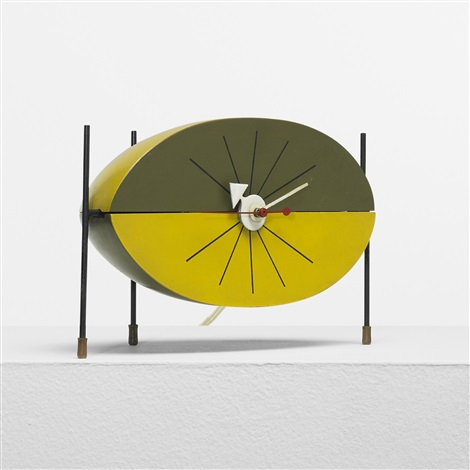watermelon table clock model 2219b by george nelson associates
